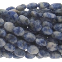 Denim Lapis 6 x 8mm Puff Oval Beads 16 inch Strand