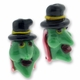 Green Witch 24mm Lampwork Glass Beads (2PK)