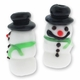 Snowman 25mm Lampwork Glass Beads (2PK)