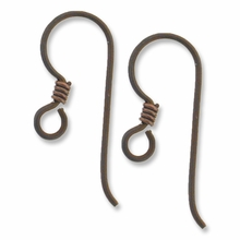 Bronze Niobium Earwire with Coil (1pr)