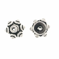 5mm Bali Style Sterling Silver Bead Cap (1PC)