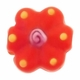 19mm Orange Flower Disc Lampwork Glass Beads (5PK)