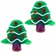 22mm Christmas Tree Lampwork Glass Beads (4PK)