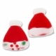 19mm Christmas Stocking Cap Lampwork Glass Beads (4PK)