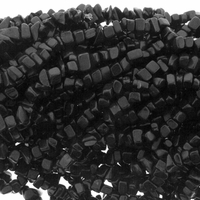 Black Onyx Beads Chips 36 inch Strand