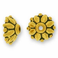 Antique Gold 9mm Dharma Bead Cap