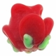 12mm Red Rose Lampwork Glass  Beads (5PK)