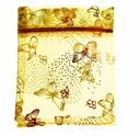 4x6 Inch Gold w/Gold Butterfly Print Organza Gift Bag