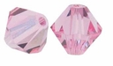 Light Rose 5328 10mm Swarovski Crystal XILION Bicones Beads (1PC)