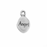 Satin Angel Drop Sterling Silver Charm