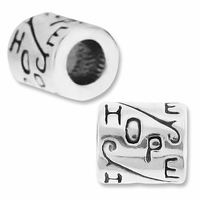MIOVI� Sterling Silver Large Hole HOPE Bead 8x8.5mm (1PC)