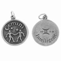 Gemini Sterling Silver Charm- May 21 - June 20