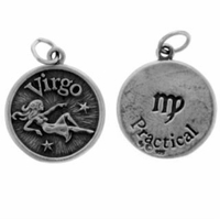 Virgo Sterling Silver Charm- Aug. 23 - Sept. 22