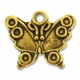 Antiqued Gold Plated 14 x 18mm Butterfly  Charm (1PC)