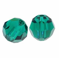 Emerald Swarovski 5000 6mm Crystal Beads (10PK)