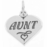 Aunt Heart Charm
