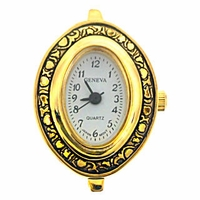 Gold Tone Decorative Oval Watch Face