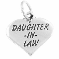 Daughter in Law Heart Charm
