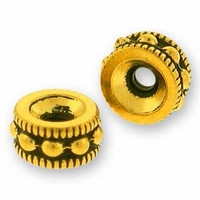 Antique Gold 6mm Rococo Round Bead