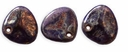 Czech Rose Petals 8/7mm Tanzanite-Bronze Picasso Glass Beads (50PK)