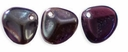 Czech Rose Petals 8/7mm Tanzanite-Celsian Glass Beads (50PK)