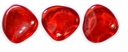 Czech Rose Petals 8/7mm Siam Ruby Glass Beads (50PK)