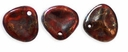 Czech Rose Petals 8/7mm Siam Ruby-Bronze Picasso Glass Beads (50PK)