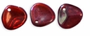 Czech Rose Petals 8/7mm Siam Ruby-Vega Glass Beads (50PK)