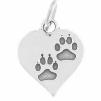 Paws on Heart Charm