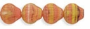 Czech Hurricane Glass Sea Shell 9mm Coral/Peridot/Yellow'Jet (25PK)