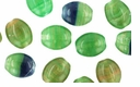 Czech Hurricane Glass Loose Flat Ovals 9/7mm Prairie Grass  (25PK)