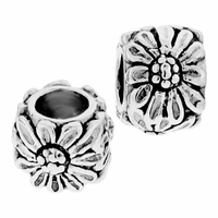 MIOVI™ Sterling Silver Large Hole Daisy Spacer Bead