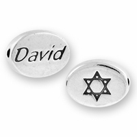 David with Symbol Sterling Silver Message Bead