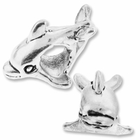 MIOVI™ Sterling Silver Large Hole Dolphin Bead