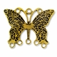 Antiqued Gold 33mm Butterfly 3-5 Link