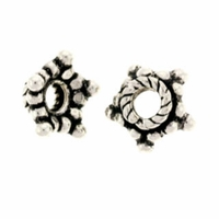 Sterling Silver Bali Style 6mm Star Bead Cap (1PC)