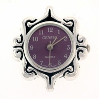 Purple Decorative Watch Face