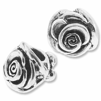 MIOVI™ Sterling Silver Large Hole Rose Bead