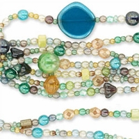 Czech Glass  Delicate Luster Bauble Bead Mix (1 Strand)