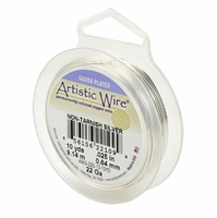22 GA Artistic Wire Silver Non-tarnish 10YD/30FT Spool