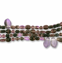 Dark Amethyst Swirl Mix Pressed Bead Mix (1 Strand)