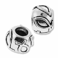 MIOVI™ Sterling Silver Large Hole Christian Fish Bead