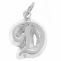 Letter D Sterling Silver Charm