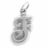 Letter F Sterling Silver Charm