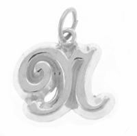 Letter N Sterling Silver Charm