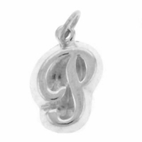 Letter P Sterling Silver Charm