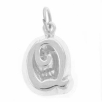 Letter Q Sterling Silver Charm