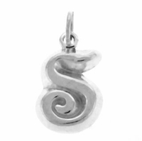 Letter S Sterling Silver Charm