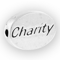 Charity Sterling Silver Message Bead