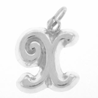 Letter X Sterling Silver Charm